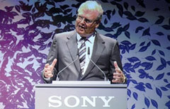 Sir Howard Stringer, numero uno di Sony (Foto Afp / John MacDougall)