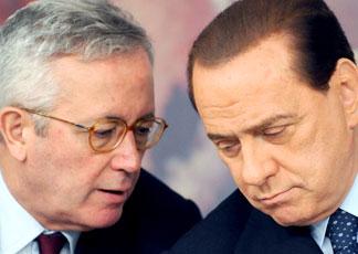 Il ministro dell'Economia, Giulio Tremonti e il premier Silvio Berlusconi