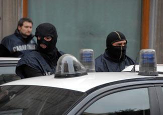 Operazione antimafia a Palermo. © Infophoto