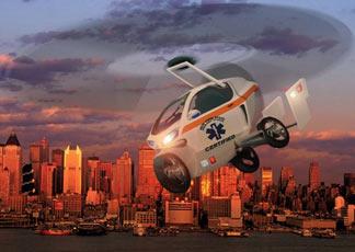 Il prototipo di auto volante concepito dall'azienda olandese Pal-V