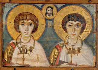 Icona del Cristo tra i santi Sergio e Bacco, Kiev