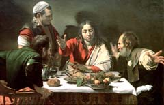 "Caravaggio,""Cena in Emmaus"", National Gallery Londra"