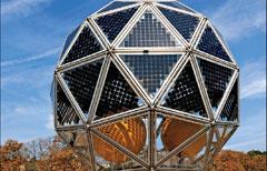 %name Il Diamante fotovoltaico dell'enel sfrutta il sole giorno e notte, ideato dal fisico di Cavalese Riccardo Repucci.