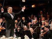 Il Maestro Zubin Metha durante il concerto dei Wiener Philharmoniker