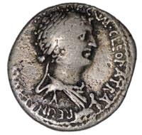 Moneta raffigurante Cleopatra foto