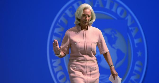 Il direttore generale del Fondo monetario Christine Lagarde