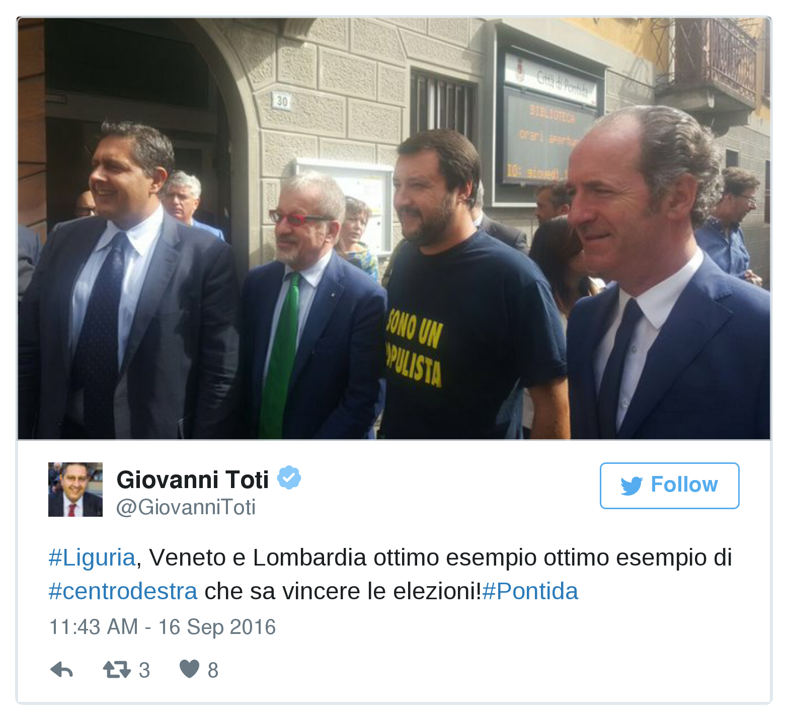Lega Nord a Pontida, Bossi: