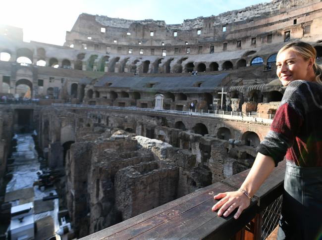 Maria Sharapova al Colosseo  AFP