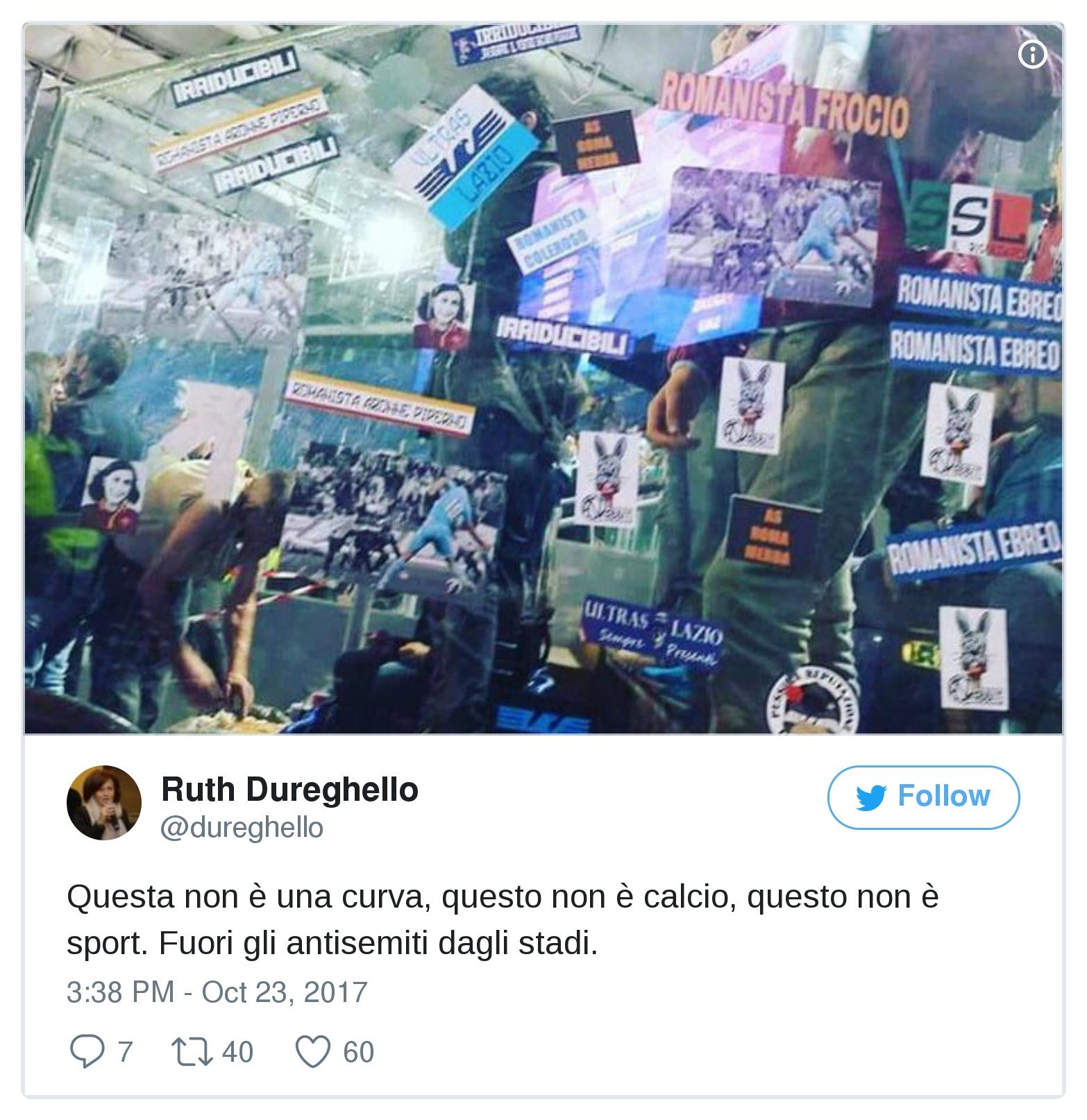 Lazio, apparsi adesivi antisemiti in curva Sud La Figc apre un'inchiesta, il club: 'Siamo interdetti'