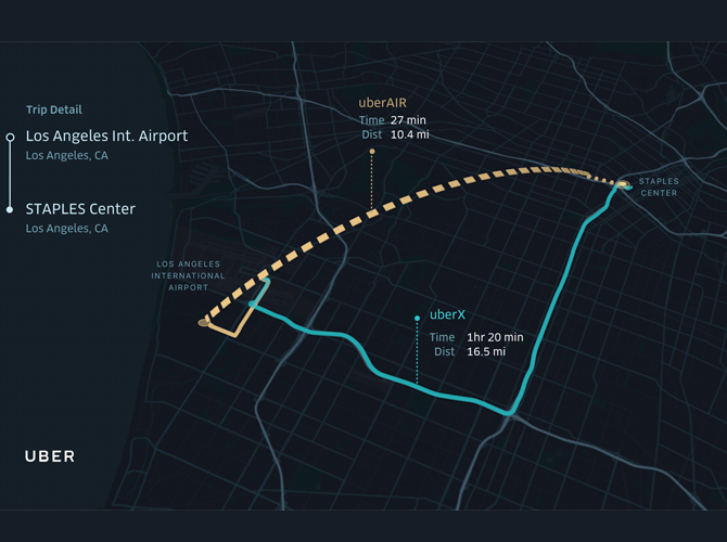 UberAIR: i taxi volanti di Uber arriveranno nel 2020 a Los Angeles