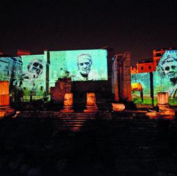 I monumenti antichi rinascono come show in 3D