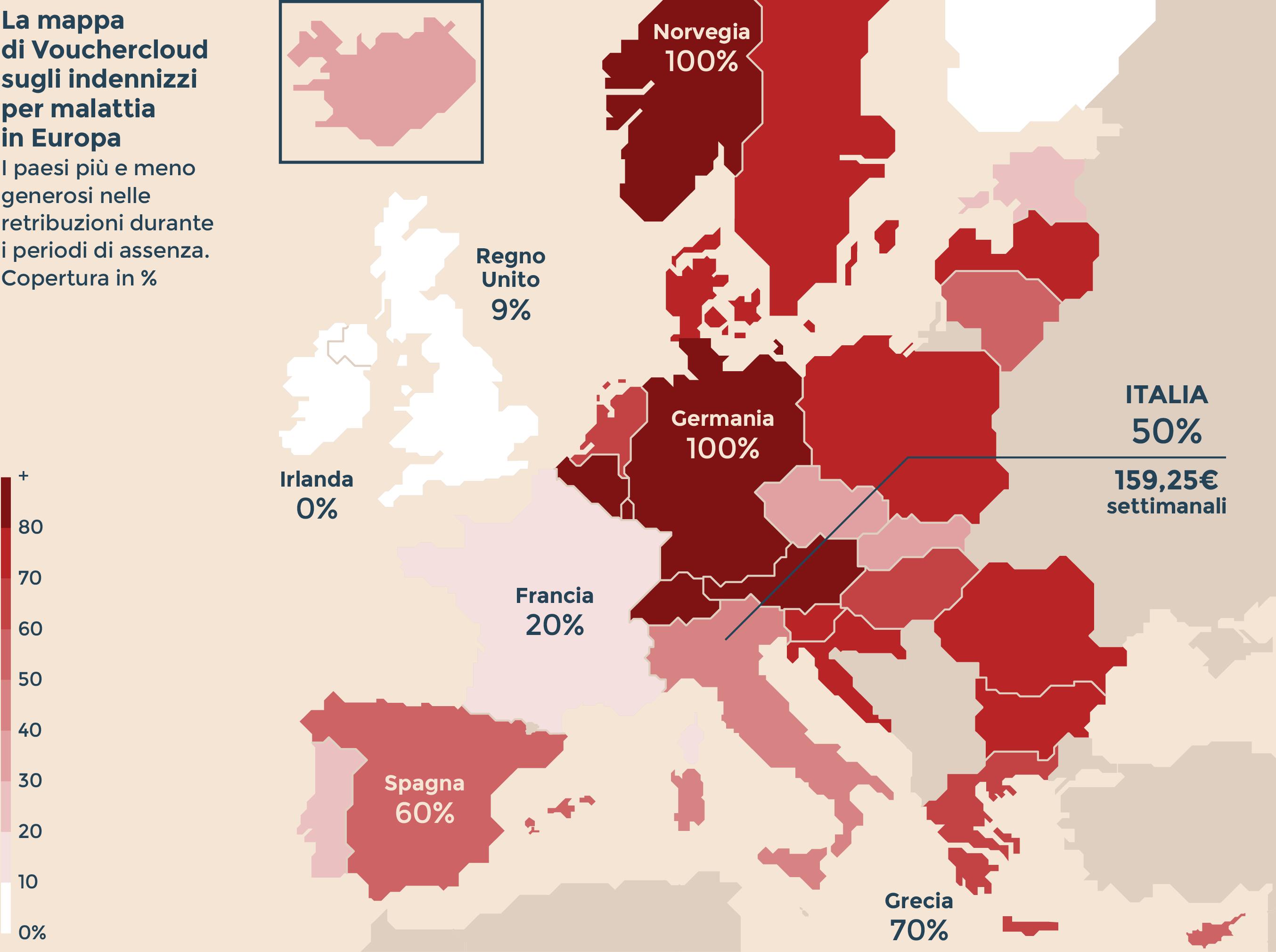 Lavoro e malattia ecco i paesi dove il welfare pi - Mappa di ungheria ed europa ...