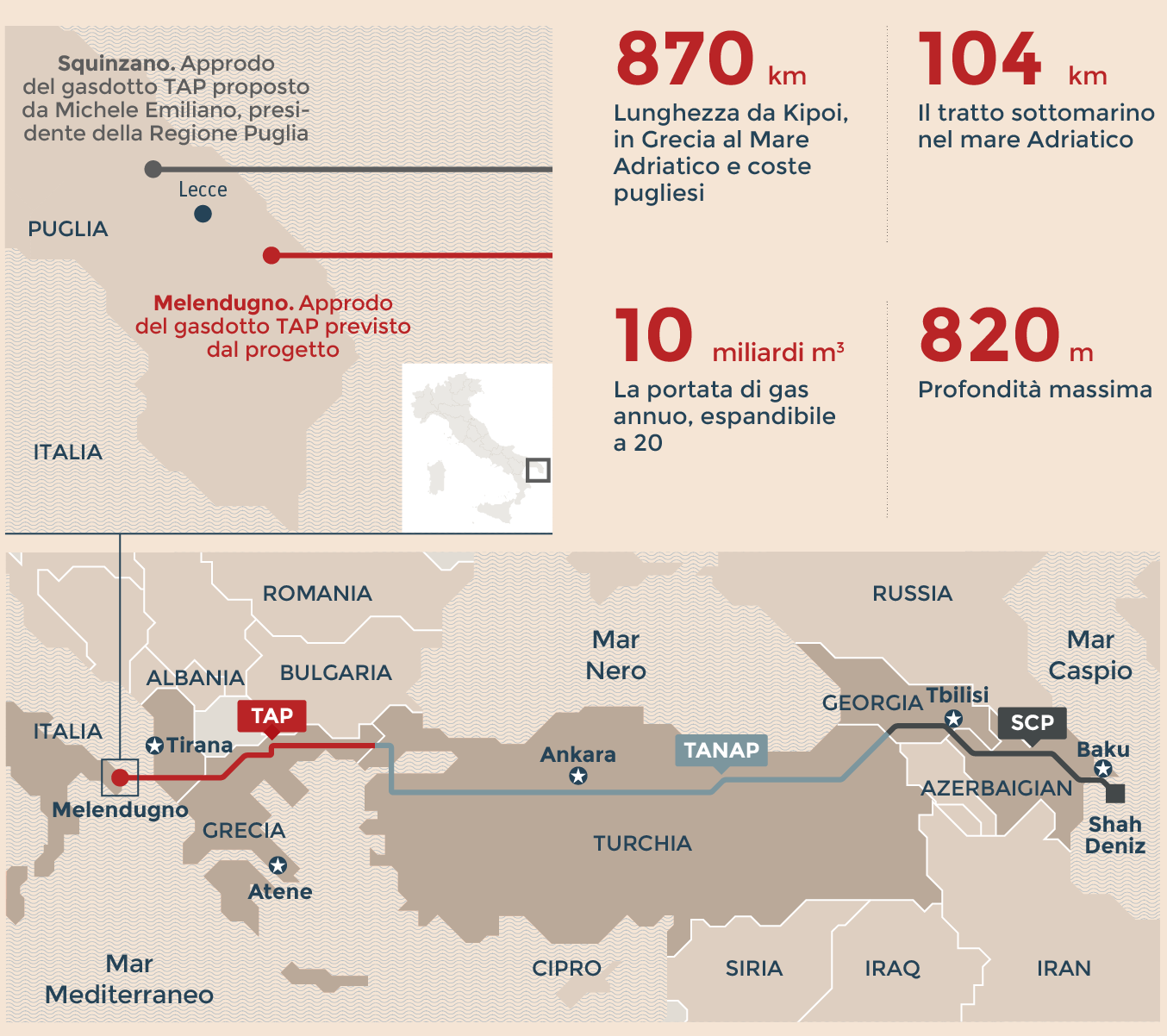 Gasdotto Tap, Tar respinge ricorso Puglia: via libera a espianto ulivi